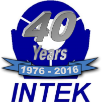 Intek's 40th Anniversary logo